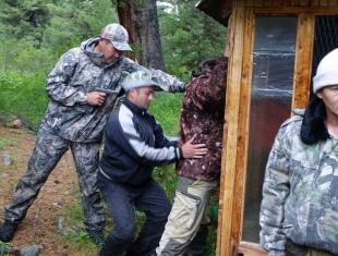 Учебное задержение нарушителей в ходе тренировки