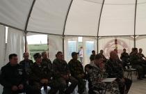 Участники тренинг-семинара госинспекторов Ассоциации заповедников и национальных парков Алтай-Саянского экорегиона, август 2014. (Автор Ю. Сизых)
