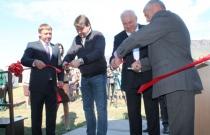 Торжественный момент открытия нового Визит-центра на участке