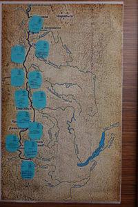 Карта пожеланий из открыток реке Енисей