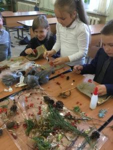 Школьники готовят подарки для сотрудников заповедника