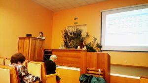 Выступление с докладом Евгении Макеевой