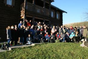 Общая фотография участников семинара у музея В Начале было Слово. Фото Ксении Шамаковой