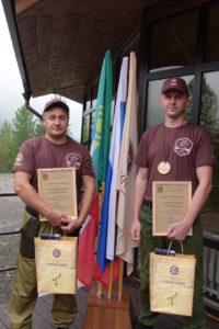 Призеры тренинг-семинара инспекторы дирекции ООПТ Красноярского края