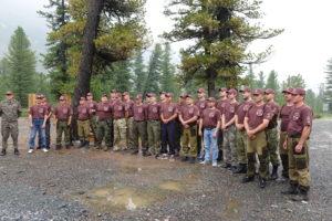 Торжественное построение участников тренинг-семинара госинспекторов Алтае-Саянского экорегиона