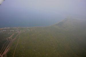 Аэрофотосъемка береговой линии озера Беле