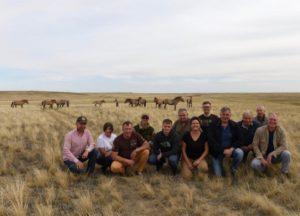 Участники симпозиума на экскурии в Центре реинтродукции лошади Пржевальского в Оренбургском заповеднике