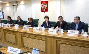 Участники круглого стола в Совете Федерации