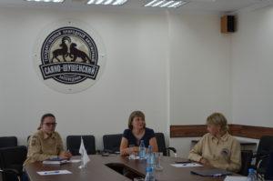Участники совещания по вопросам изучения и сохранения лесного северного оленя