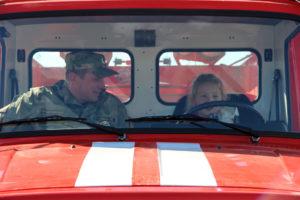 За рулем пожарной машины