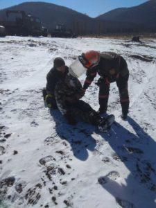 В полевых условиях отработан практические действия