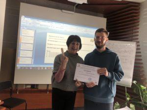 Все участники получили сертификат о прохождении обучения