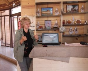 Elena Miklashevich, a vice president of the Siberian Association of Prehistoric Art Researchers