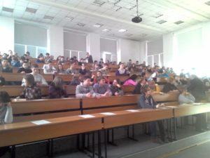 Участники географического диктанта в Хакасии
