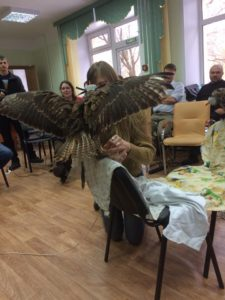 Практические занятия по кольцеванию хищных птиц