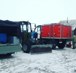 Khakassky Reserve's firefighting vehicles