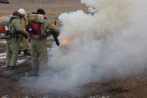 Wildfire extinguishing training