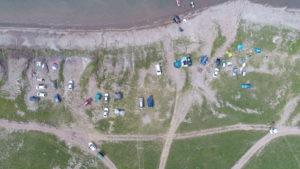 Авиаучет туристического потока на озере Белё 2017 г