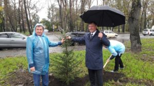 Руководители заповедников и национальных парков России приняли участие в посадке аллеи слёта