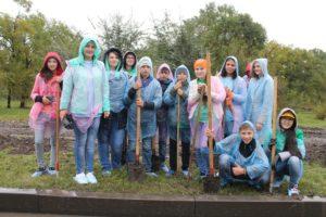 Участники слета высадили 200 деревьев и кустарников