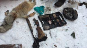Изъятые вещи браконьеров