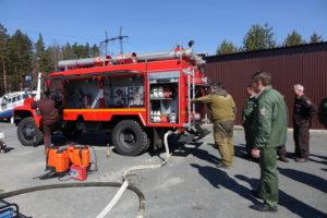 Проверка готовности пожарной машины