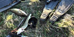 Изъятые вещи браконьеров и улов