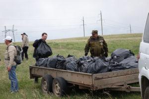 Собранный мусор с сопредельной территории