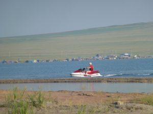 Нарушение запрета на использование маломерных судов на озере Белё