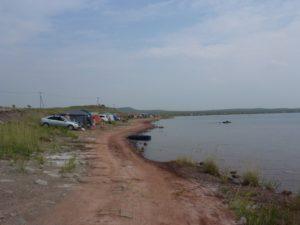Несоблюдение санитарно-защитной прибрежной полосы на юго-восточном побережье Малого плёса озера Белё